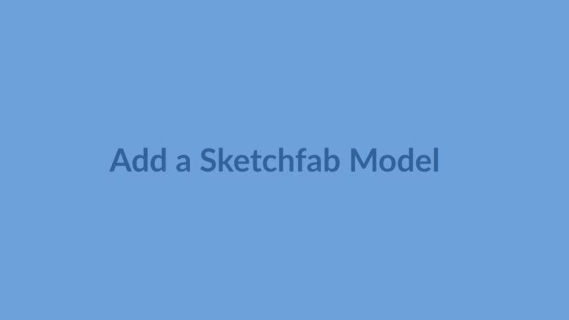Sketchfab Exercise